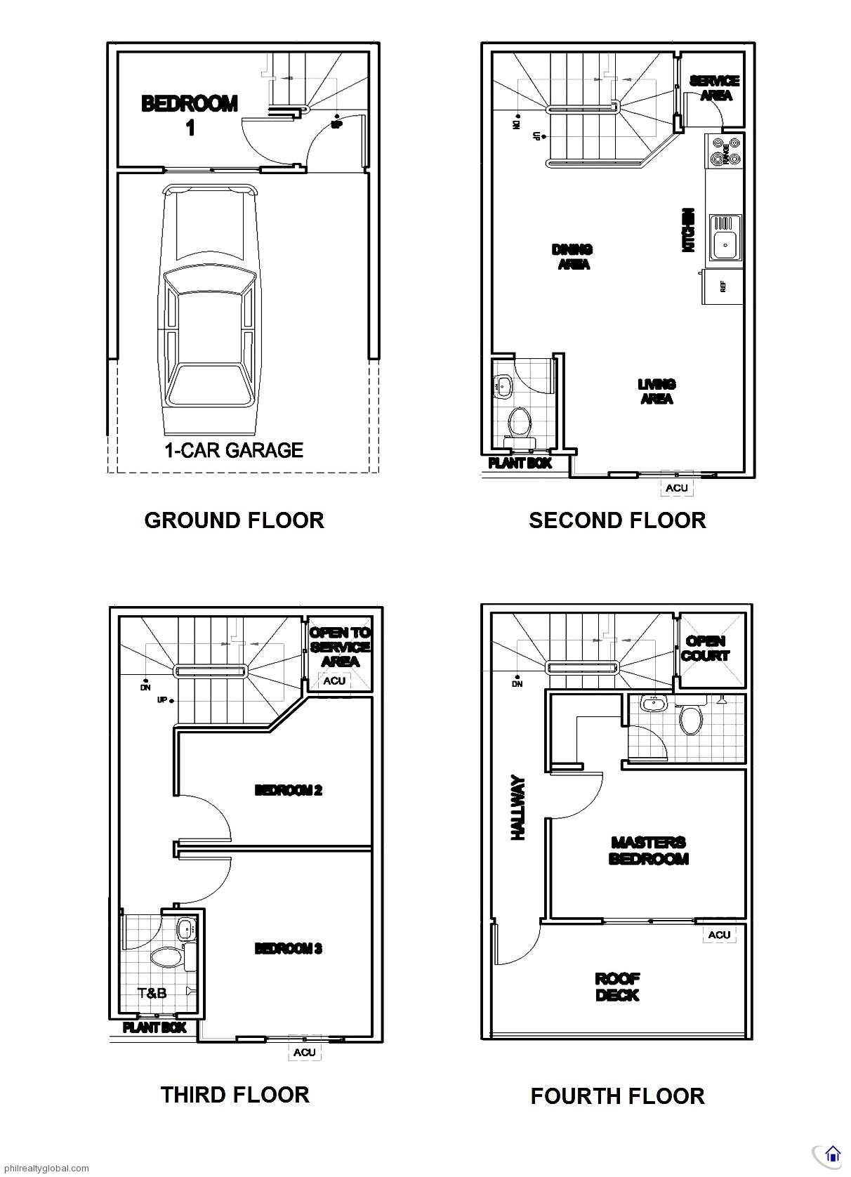 4 Bedroom Townhouse In Quezon City Near Maginhawa Real