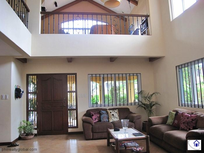 Mediterranean house and lot for sale in sacay grand villas - Small space living room designs philippines ...