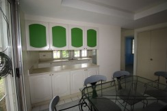 Dining area and kitchen counter