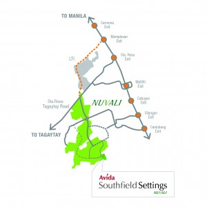 Avida Southfield Settings Vicinity Map