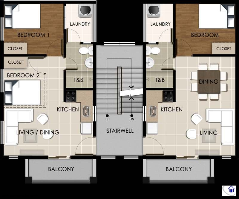 Suite B Second Floor Layout