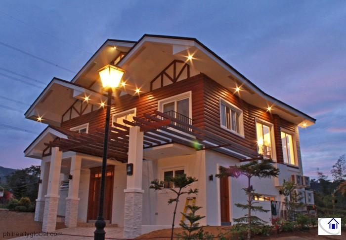 Modern log cabin house for sale in tagaytay highlands for Modern log cabins for sale