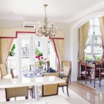 kitchen to dining to living