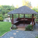 Kubo at the landscaped garden