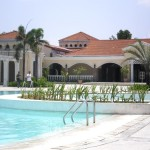 Clubhouse with pool