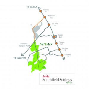 Avida Southfield Settings Vicinity Map