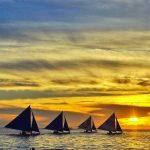Sunset at Boracay Beach