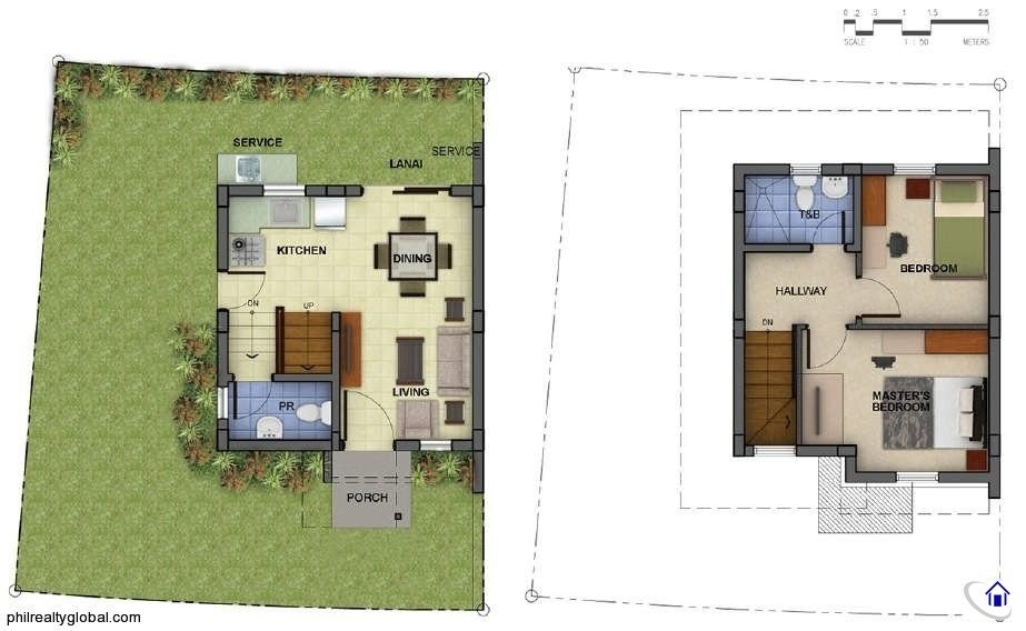 Banyan 54 sqm Floor Plan araya residences