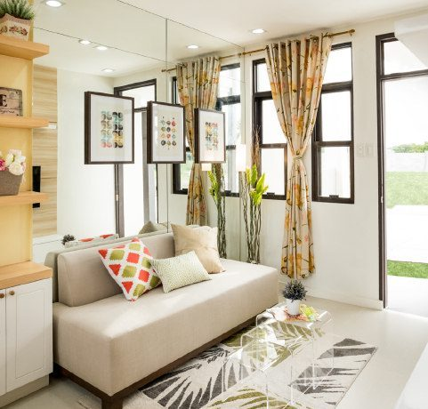 Banyan 54 sqm Model Unit LIving Room