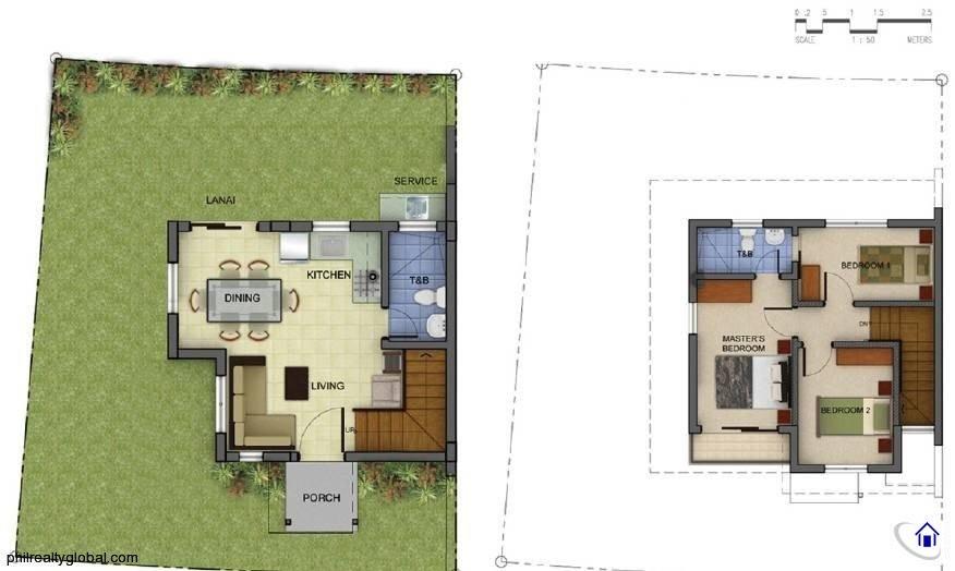 Redwood 70 sqm Floor Plan Araya Residences