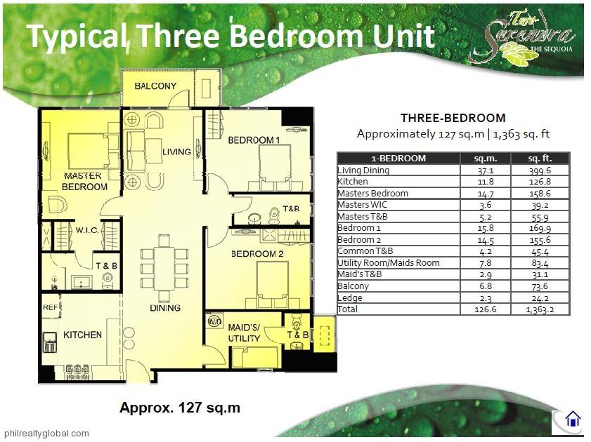 3 Bedroom Condo In Serendra 2 The Sequoia